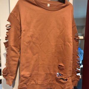 ALO Yoga distressed sweatshirt